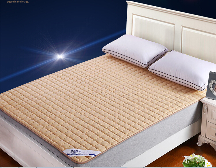 200*150CM Washable Cotton Mattress Anti-Slip Hotel Mattress Bed Protection Mat