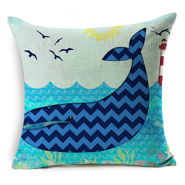 Deep Blue Ocean Pillows 4
