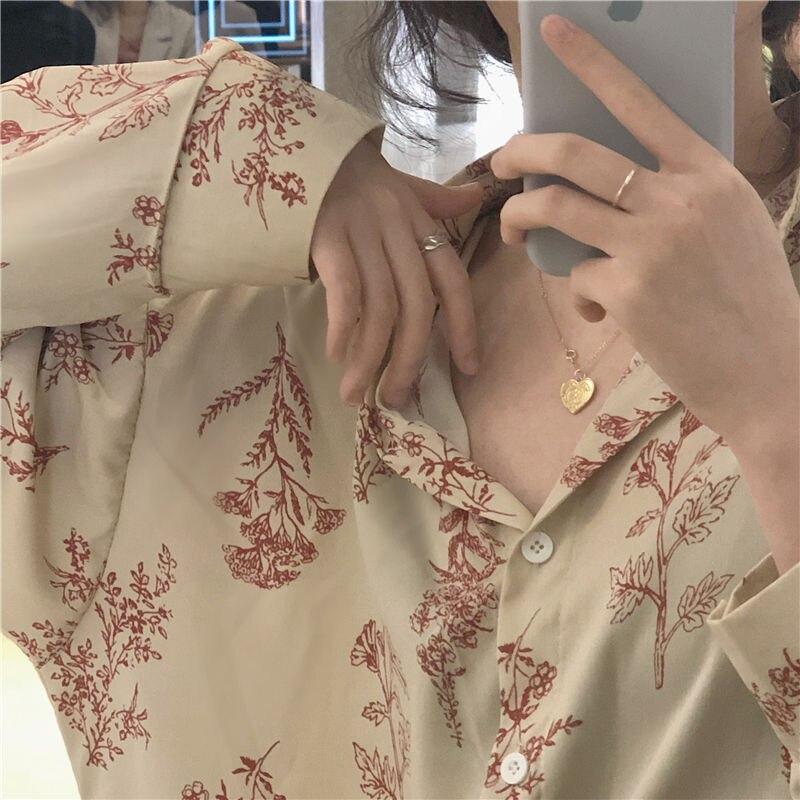 Блузка Hzirip, универсальная, с длинным рукавом, в стиле ретро, 2019
