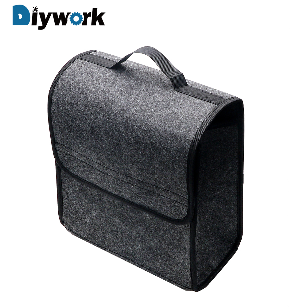 DIYWORK Seat Back Tool Bag Car Organizer Car Trunk Storage Bags Stowing Tidying Holder Box Auto Rear Storage Pouch