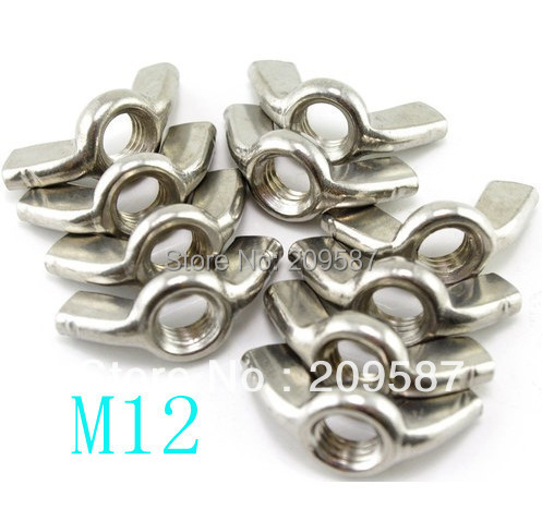 5pcs Metric Thread M12 304 Stainless Steel Wing Nuts Butterfly Nuts
