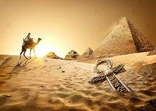 Egípcio Pirâmide do sol do Deserto temático decorações da festa de Vinil pano de fundo pano Computer print Fundo papel de parede