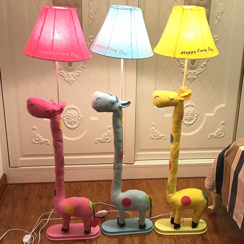 Kids Room Floor Lamp: New Modern Cute Fabric Giraffe Floor Lamp Romantic Rural