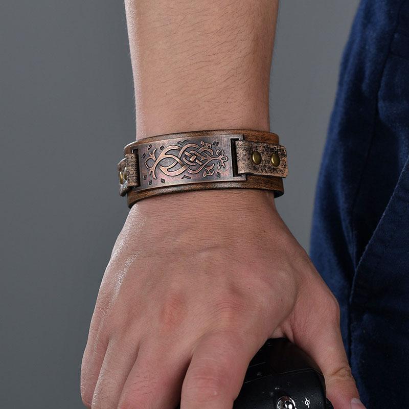 Men Genuine Leather Wrap Bracelets