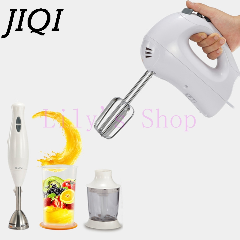 JIQI electric meat grinder Hand Stick blender multifunction baby food mixer stir Fruit juicer eggs Whisk beater food processors bpa 3 speed heavy duty commercial grade juicer fruit blender mixer 2200w 2l professional smoothies food mixer fruit processor