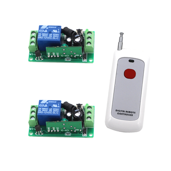 DC 9V 24V 12V RF Wireless remote control switch 10A Relay Receiver 1CH Wireles controller for Light Lamp LED 315Mhz/433.92Mhz new 1ch 7v 12v 24v dc relay module switch wifi rf 433mhz wireless remote control timer switches for light work by phone