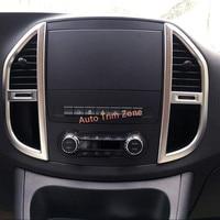 Matt ABS Center AC Air Vent Cover Trim 2PCS For Mercedes Vito W447 2014 2017