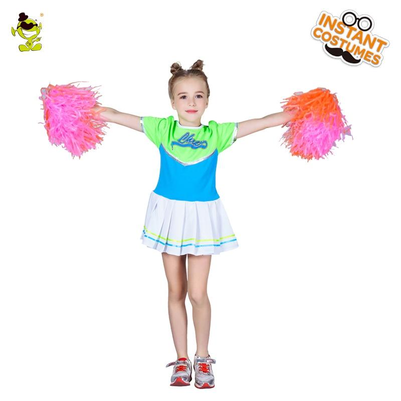 f27e833c9eb US $21.42 10% OFF|Girls Cheerleading Costume Sleeveless Cheerleader Uniform  Sportwear Girls Halloween Fancy Dress Costume -in Girls Costumes from ...