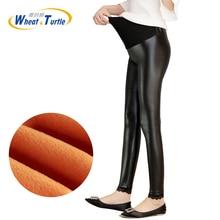Winter Thickening Velvet Warm Pregnant Leggings Women Pants Trousers Elastic Pencil for pregnant women