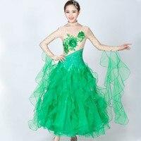 تنورة الرقص الحديث براقة خياطة الماس gb قاعة الرقص اللباس أداء تنورة الملابس