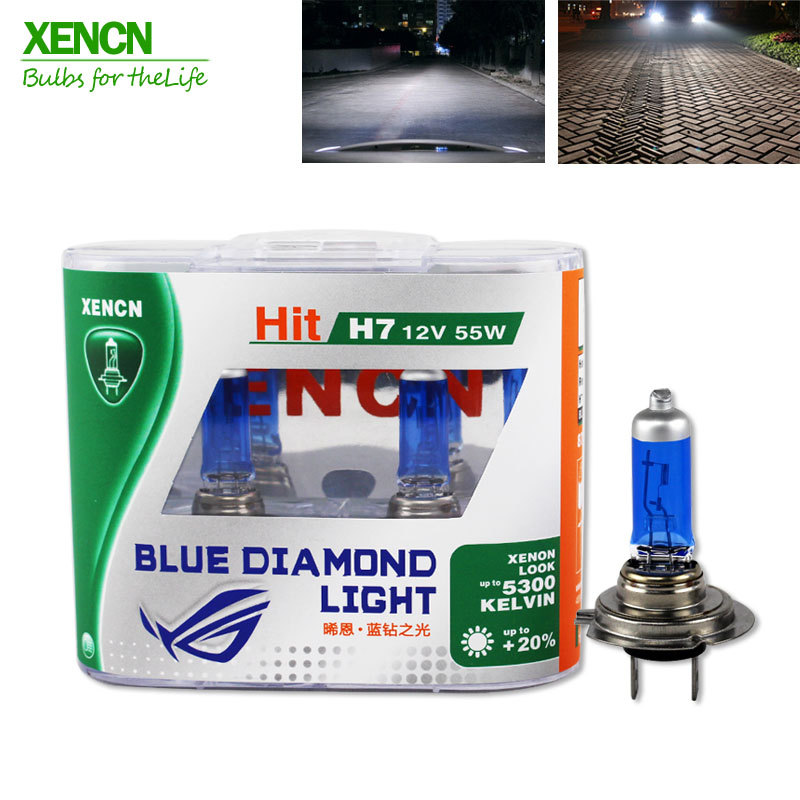 XENCN H7 12V 55W 5300K Blue Diamond Light Car Headlight Halogen Bulb Ultimate White Head Lamp For Vw Polo Land Rover New 2Pcs