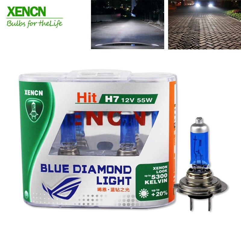 XENCN H7 12V 55W 5300K Blue Diamond Light Car Headlight Halogen Bulb Ultimate White Head Lamp for vw polo land rover dianzi h4 50 60w 1000 1300lm 5300k white light halogen car headlamp 12v 2 pcs
