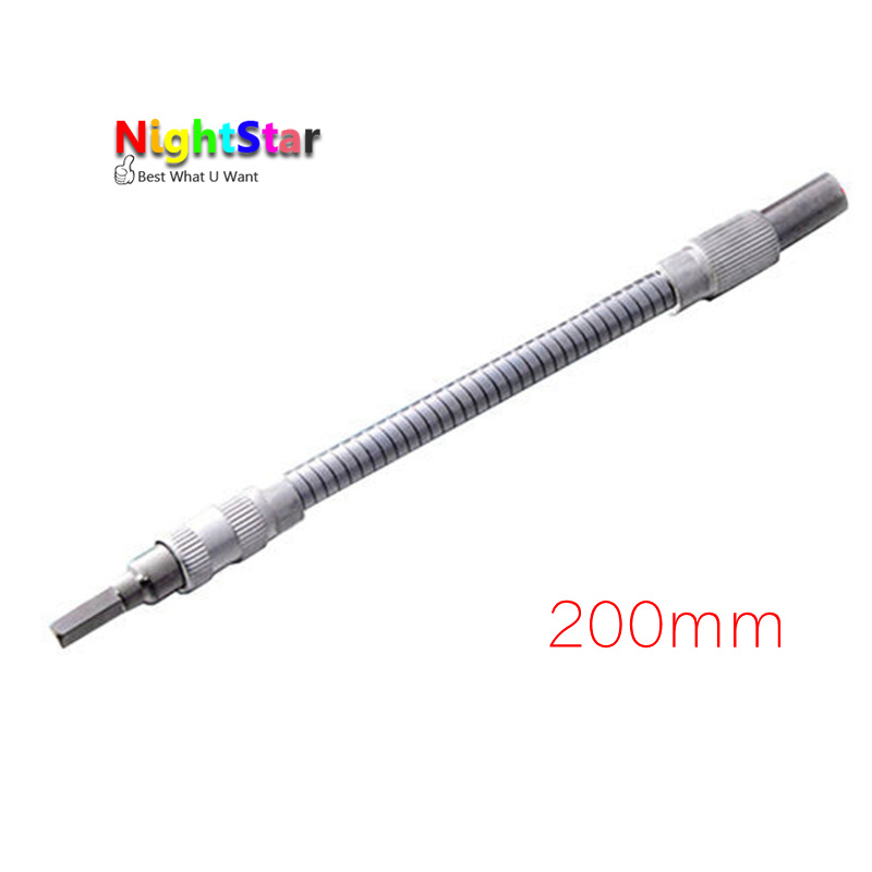 200mm All-metal Flexible Shaft Metal Connector Extended Helper For Electronic Drill Color Sliver