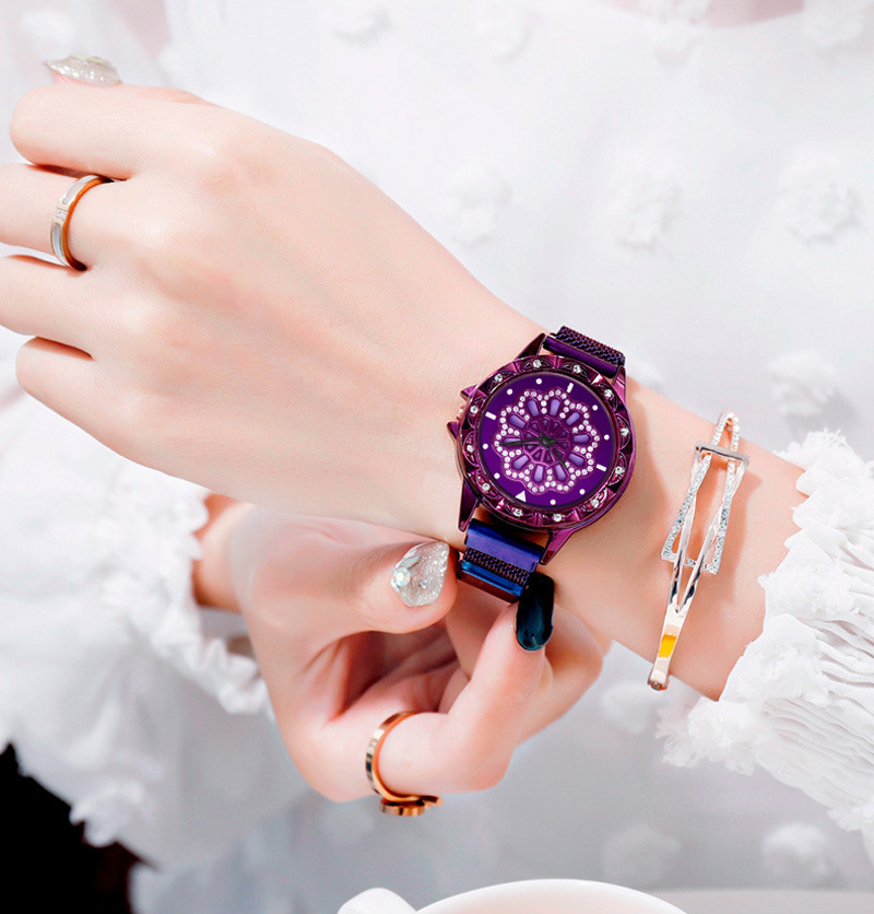 360-degree-rotation-Women-Watch-Mesh-Magnet-Starry-Sky-Ladies-Watch-Luxury-Fashion-Geometric-Quartz-Watch 9