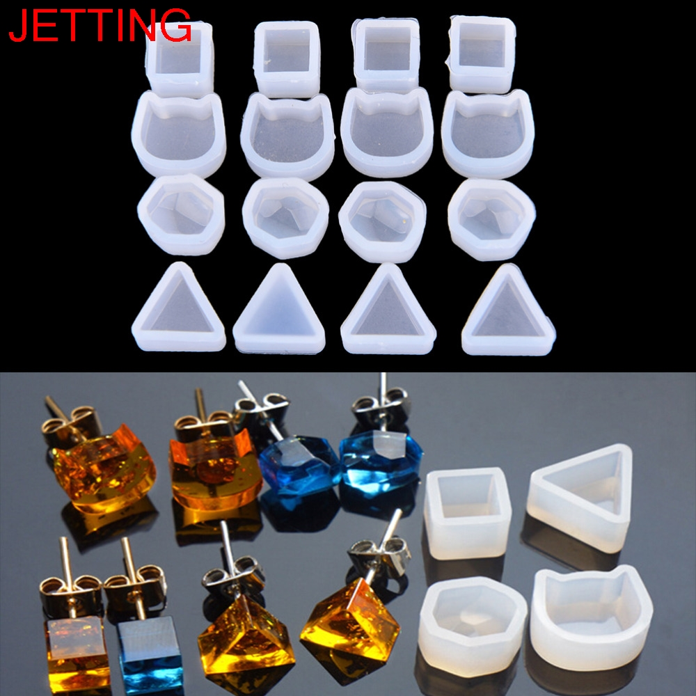 2pcs/set Women Pendant Bracelet Earrings Multi Shaped Silicone Jewelry Making Tools For Resin Expoxy Mold