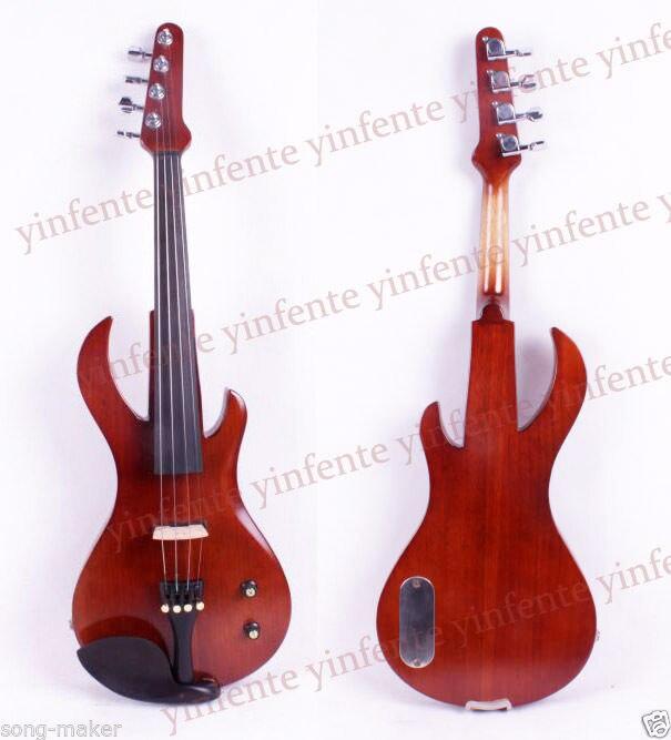 New 4/4 Electric Violin Guitar Shape Rose color Big Jack Pickup Fine Tone
