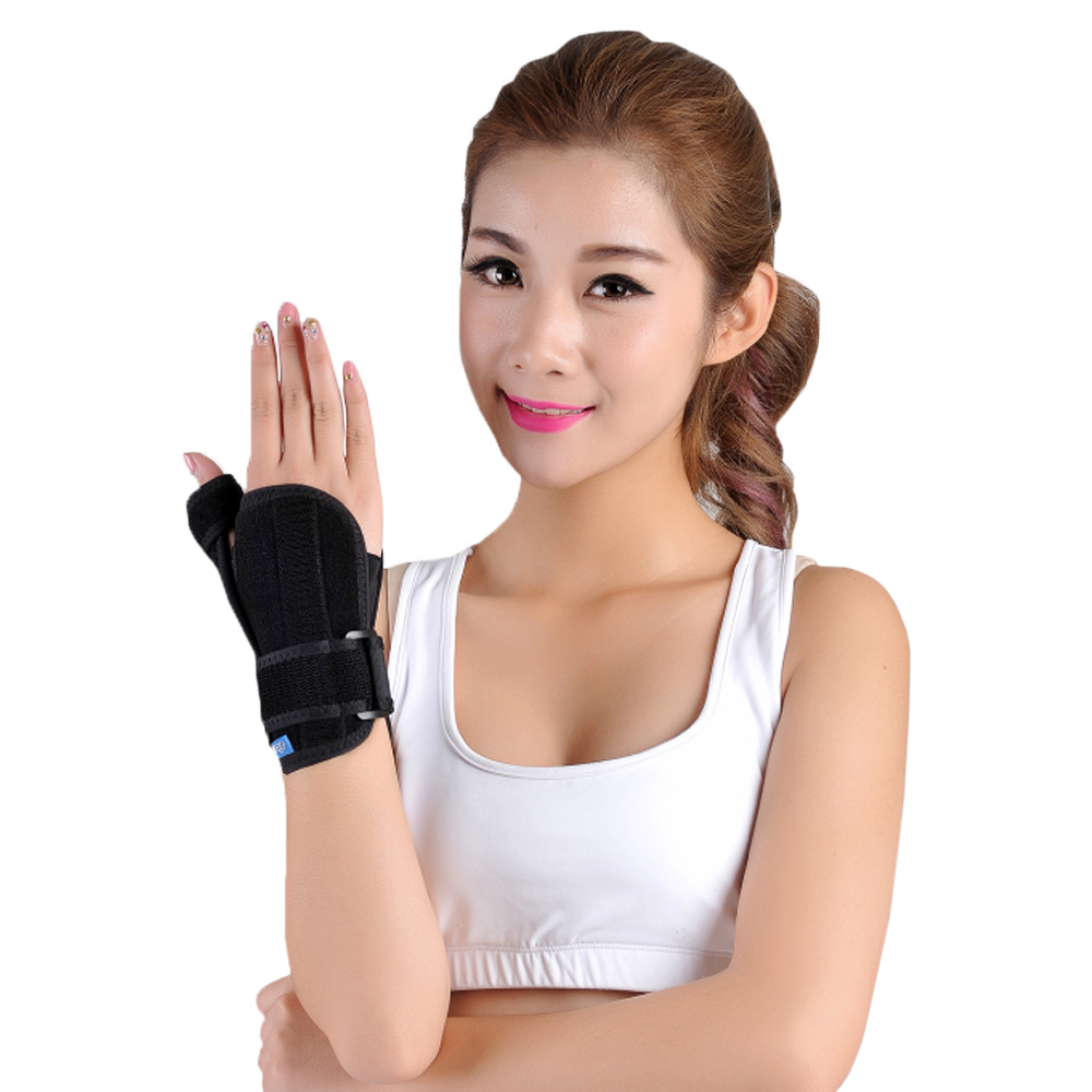 Medical Thumb Wrist Brace Support Splint Stabilisator For Scaphoid Fracture Tenosynovitis CTS Carpal Tunnel Syndrome sport cotton wrist brace wrap support black