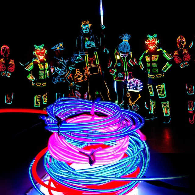 Exceptional POSSBAY 3M Flexible Car 12V 110V EL Wire Rope Neon Light Glow Decor Party  Dance Fit