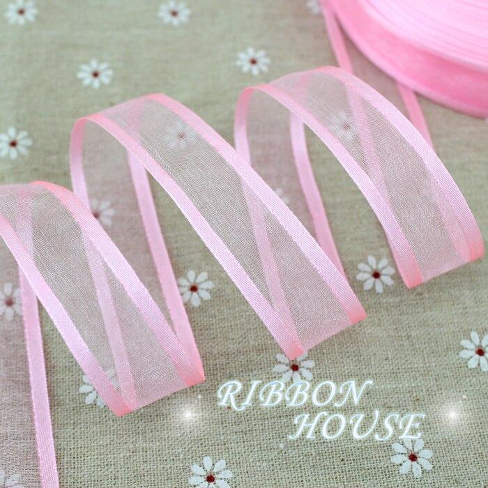 20 мм розовые широкие ленты из органзы оптовая продажа подарочная упаковка декоративные ленты
