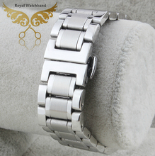 New 18mm 20mm 21mm Silver New High Quality Polished Stainless Steel Watch Band Strap Bracelet Depolyment
