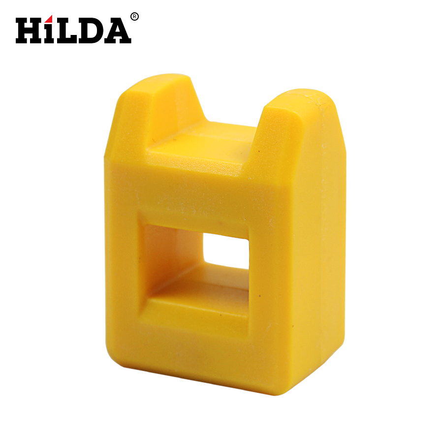 HILDA 1 Pcs Mini 2 in 1 Magnetizer Demagnetizer Tool Yellow Screwdriver Magnetic hilda magnetblock strong magnetic tool wearing a helicopter suction magnetic receive article
