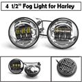 """2016 New Arrival 4.5 """" Led  motorcycle Fog Light  Spot Light Fog Lamp Running Light for Harely motorcycle"""