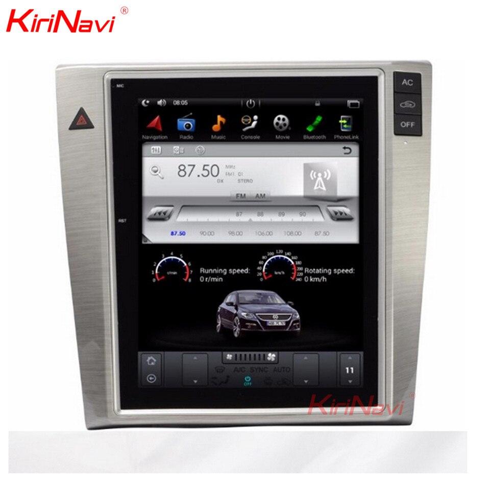 KiriNavi de pantalla Vertical Tesla estilo 10,4 pulgadas Android 6,0/7,1 Radio de coche para VW Passat Magotan CC de navegación GPS reproductor de DVD