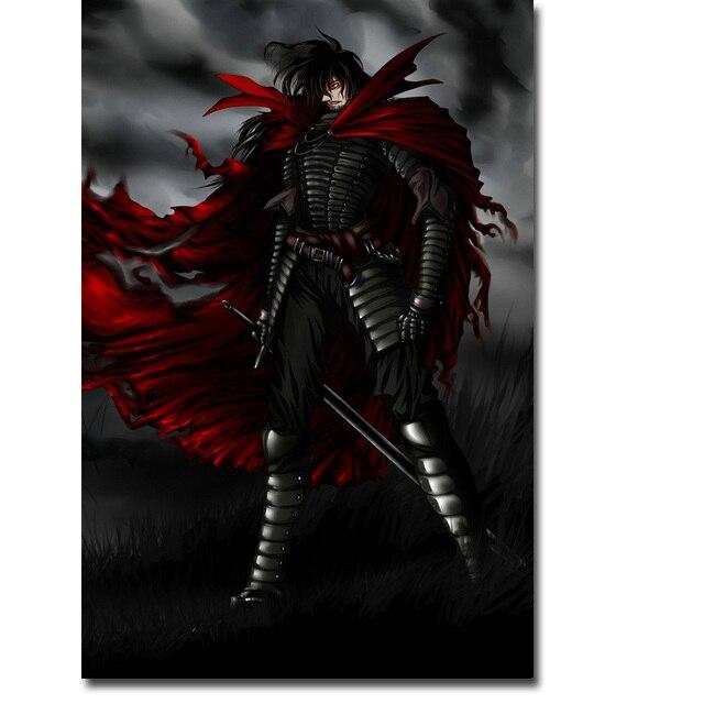 Аниме плакат гобелен шелковый Хеллснг Hellsing в ассортименте