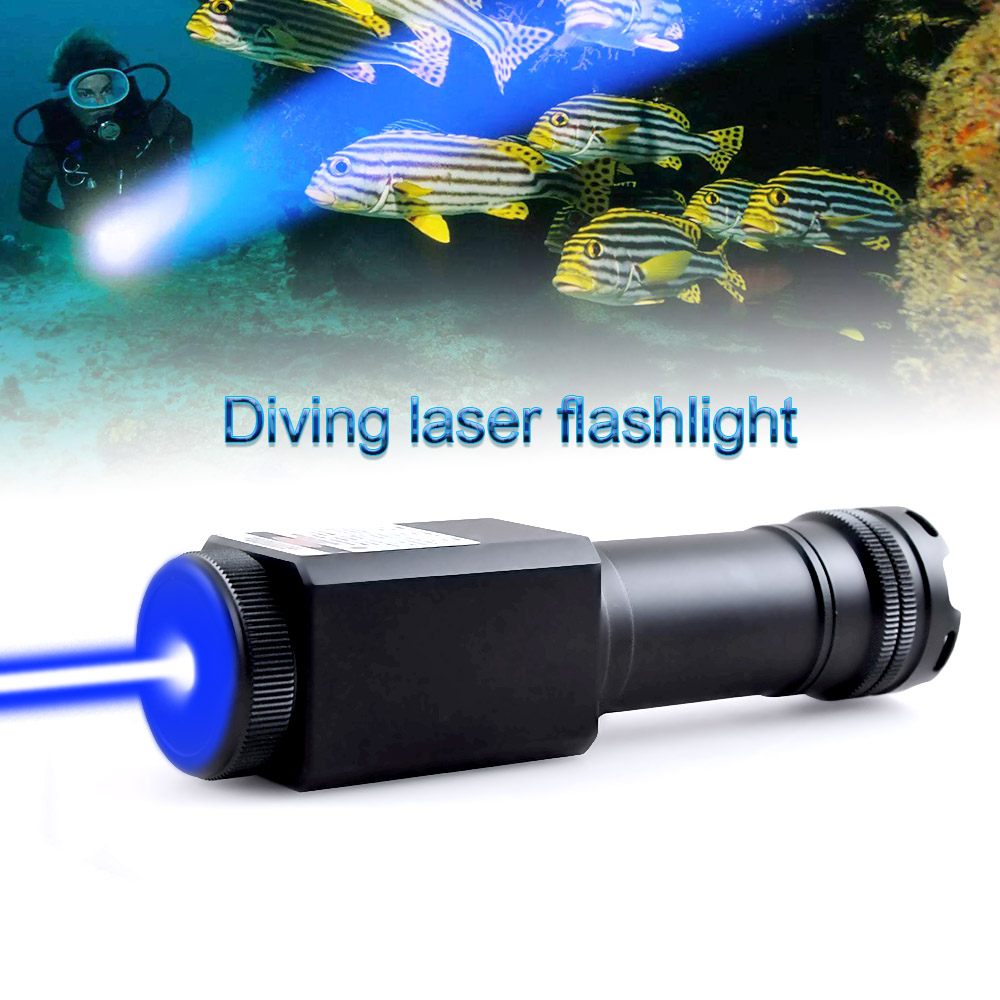 CWLASER 50000m High Power 445nm Focusable Blue Laser Pointer Waterproof (IPX-8) Laser Burning Laser (Black) ipx 8 waterproof bag pouch w neck strap for iphone 4 4s blue black
