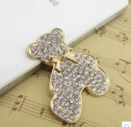 2019 New Style 50pcs Full Drill Bowknot Teddy Bear Diamond Diy Jewelry Rhinestone Buttons,metal Button,wedding Scrapbooking Decoration Fragrant Aroma Home & Garden Buttons