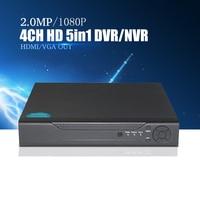 YiiSPO 4CH/8CH 16CH 1080N TVI CVI AHD 5 In1 Hybrid DVR/1080P NVR Video Recorder AHD DVR For AHD/Analog Camera IP Camera onvif