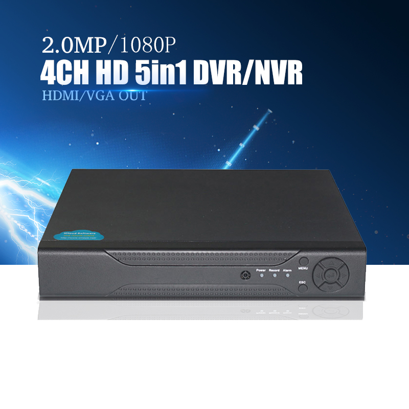 YiiSPO 4CH/8CH 16CH 1080N CVI TVI AHD 5 In1 Hybride DVR/1080 p NVR Enregistreur Vidéo AHD DVR Pour AHD/Analogique Caméra IP Caméra