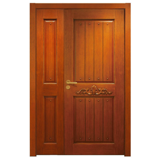 2016 latest wood glass door design wooden door double leaf for Wood door design 2016