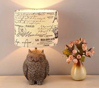 Настольная лампа прикроватная лампа Ткань Гостиная Спальня Лампы для мотоциклов серый Страна Американский Пастырское Гостиная смолы Ткан