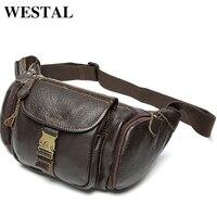 Westal натуральная кожа поясная сумка мужская кожаная поясная сумка ремень человек груди сумки Мужчины поясная путешествия ремень кошелек 9025