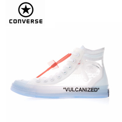 Converse Classic New Design Authentic Converse OFFWHITE 1970s High Top Skateboarding Shoes Unisex Canvas Anti-Slippery Sneakser