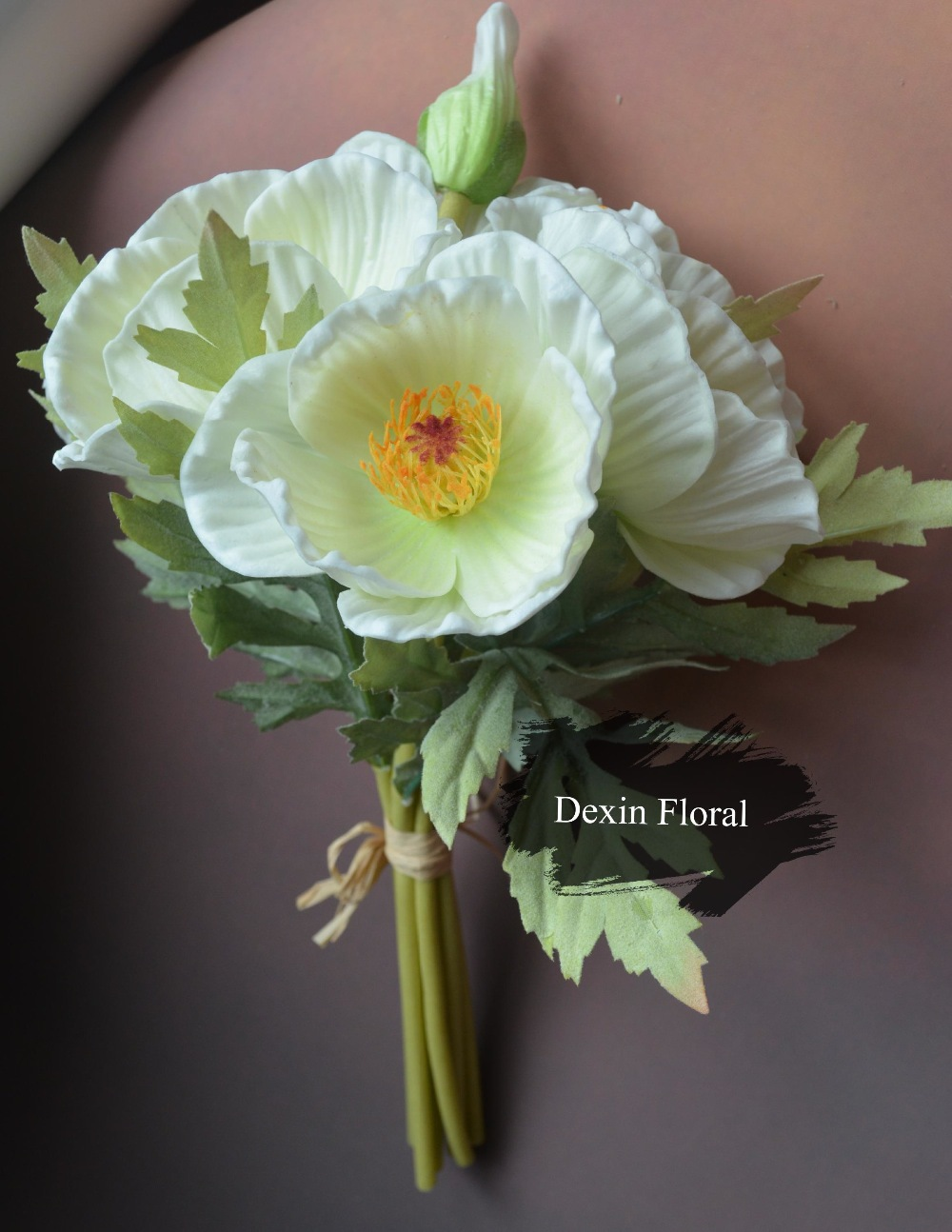 Real Touch Flowers Poppy Bridal Bouquet Artificial Poppy Posy