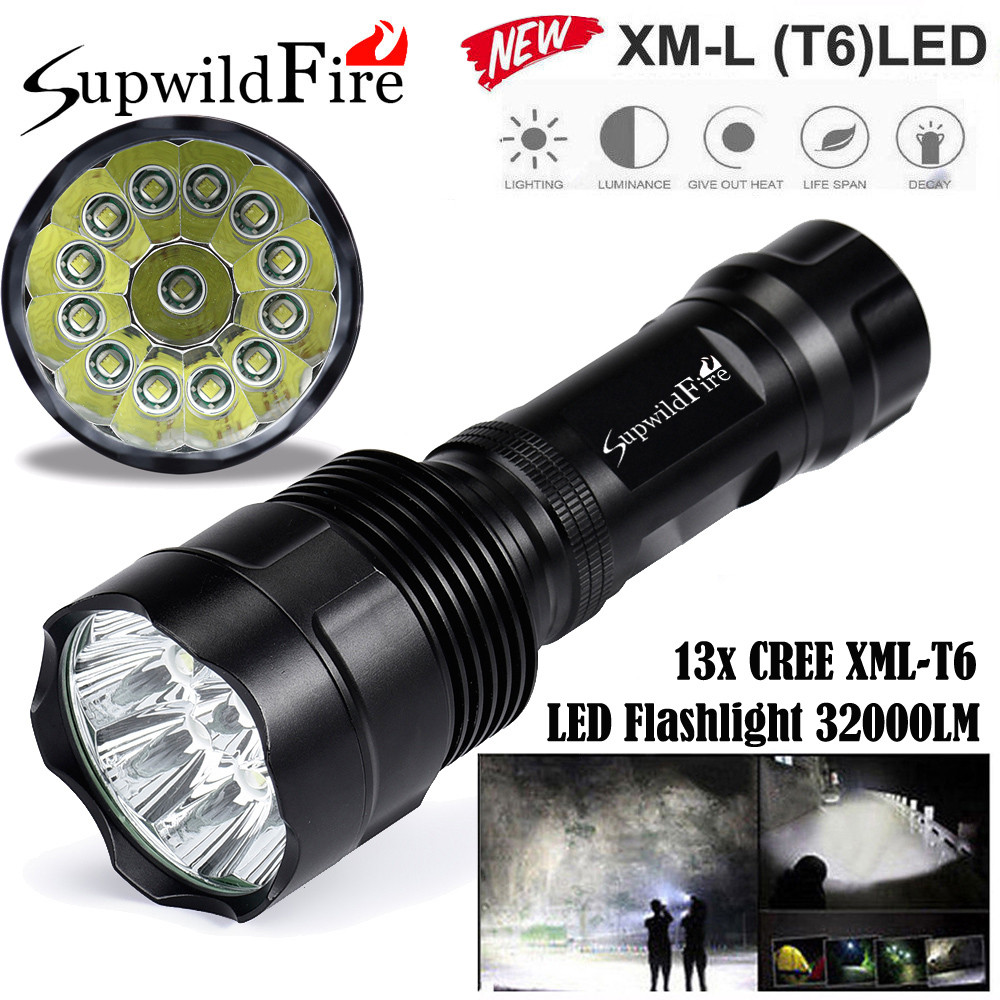 Super Bright 32000Lm 13x XML T6 LED 5Mode 18650 Flashlight Torch Light Lamp  bicycle light  September4 sitemap 13 xml