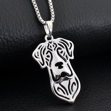 Great Dane Necklace Women Boho Chic Sliver Collier Femme Za Best Friend Girl Gift Jewelry 1pc