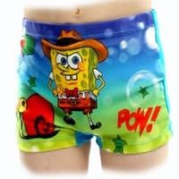 2016 Boys Swim Trunks Swimsuit Children\'s Swimwear Spiderman Sponge bob Kids Swimming Suit Beach Shorts Pants Top Quality
