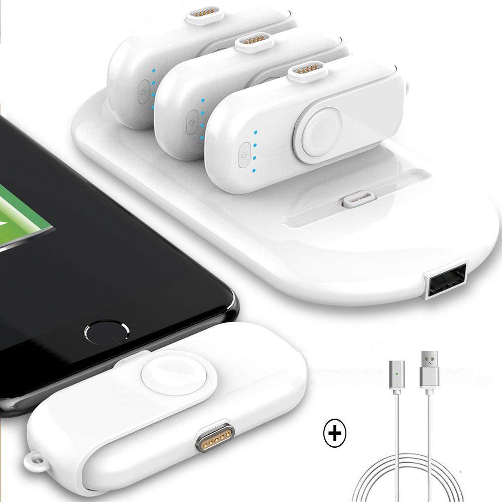 Mini chargeur de téléphone Portable sans fil 5000 mAh batterie externe Station de charge chargeur de batterie de secours cadeau 4 pièces 1000 mAh