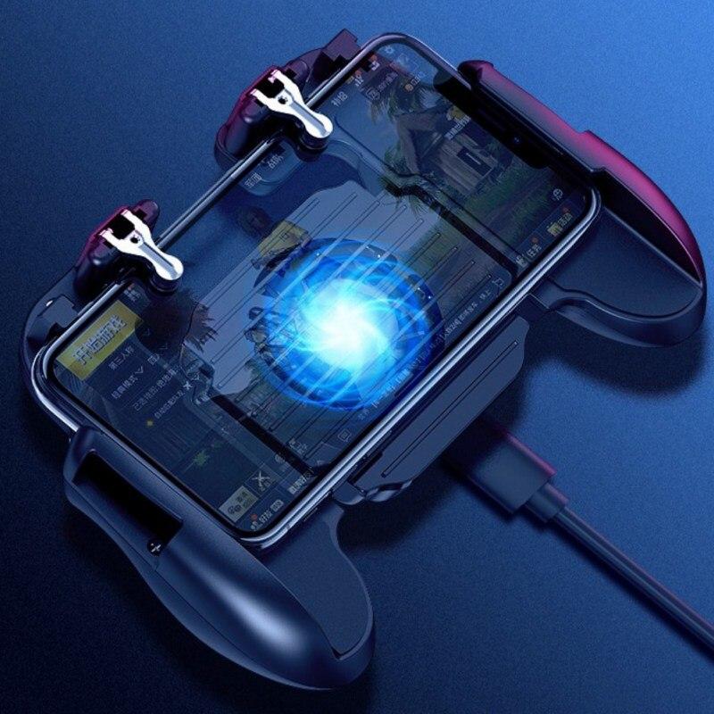 H5II Cooling Fan Gamepad Joystick Mobile Phone PUBG Game Gamepad Smartphones For iPhone Samsung HuaWei Xiaomi OnePlus
