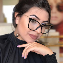 Mincl moda feminina designer óculos de gato quadros com óculos de leitura de metal feminino anti fadiga eyewear nx