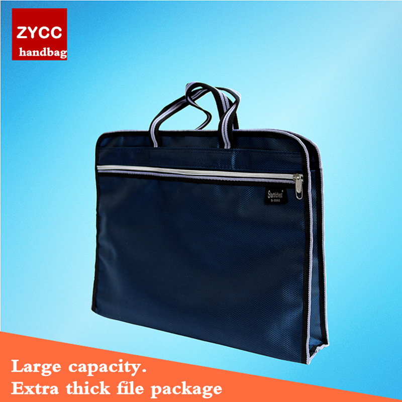 High Quality Dark Blue Document Bag Business Documents Carry Bags Large File Folder
