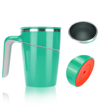 iRULU Stainless Steel Espresso Coffee Milk Cup Mugs With Lid Water Bottle Juice Tea Cup Non-slip Suction Silicon Bottom