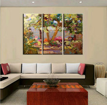 3 piece Muti panel abstract modern canvas wall art decorative knife picture oil painting canvas for decoration living room