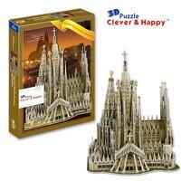 3d puzzle model Sagrada Family Basilica,Barcelona,Barcelona paper puzzle diy model puzzle toy for boy paper