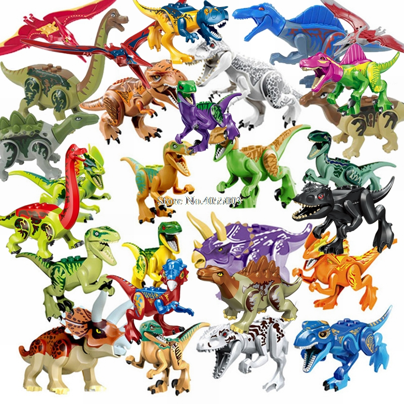 Kids Toy Building-Blocks-Set Lockings Animals-Kit Legoing World-Park Dinosaurs Raptor-Protection