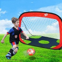 Portable Kid Children Football Goal Fashion Foldable Fitness Parent Child Game Play Tent Football Game Goal