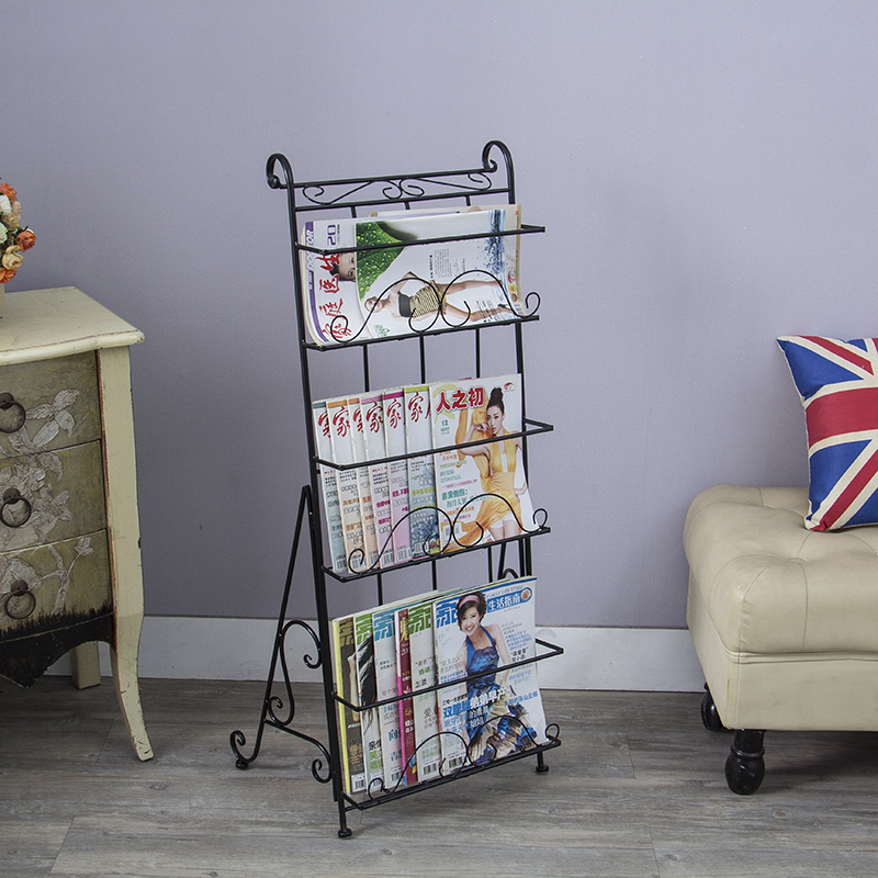 Metal magazine rack books floor steel shelf stereo creative promotional display shelfMetal magazine rack books floor steel shelf stereo creative promotional display shelf